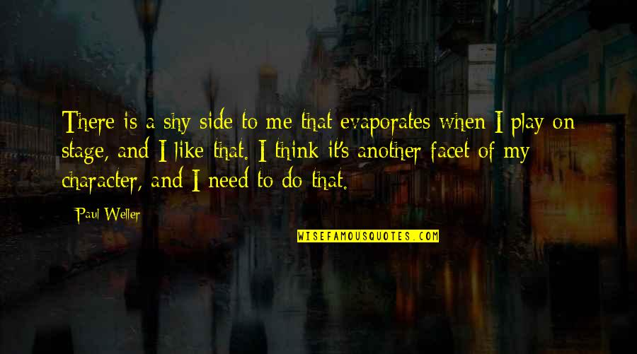 Another Like Me Quotes By Paul Weller: There is a shy side to me that