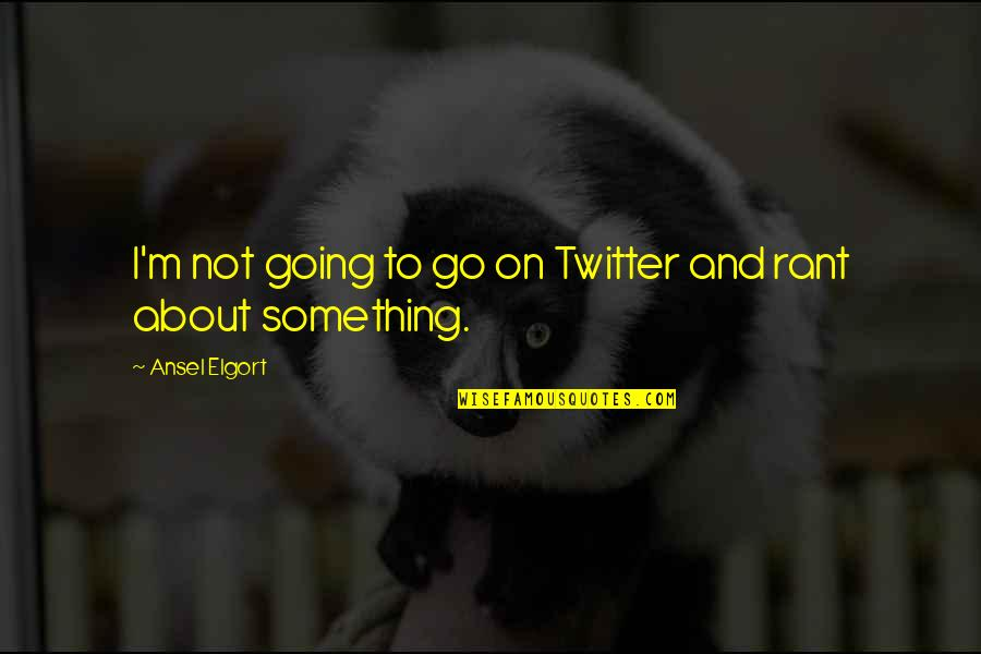 Ansel Elgort Quotes By Ansel Elgort: I'm not going to go on Twitter and