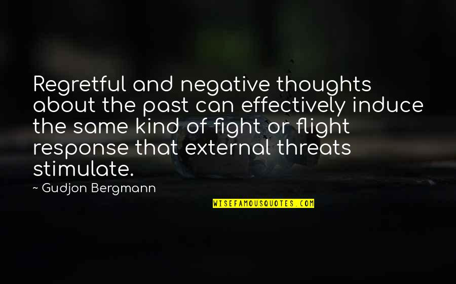 Answerlessness Quotes By Gudjon Bergmann: Regretful and negative thoughts about the past can