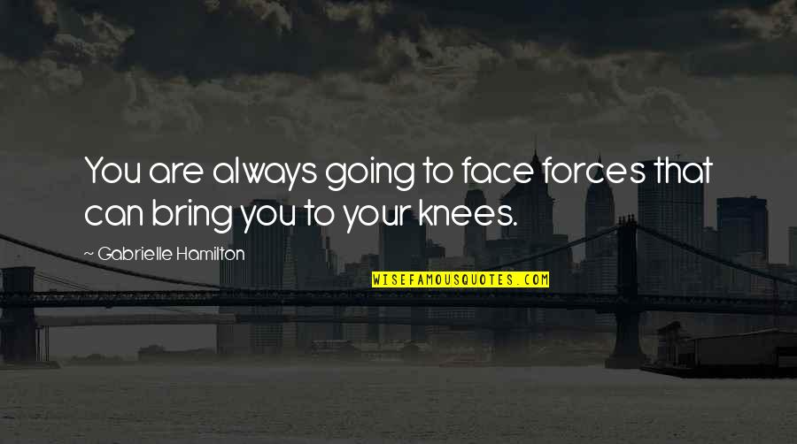 Antevenere Quotes By Gabrielle Hamilton: You are always going to face forces that