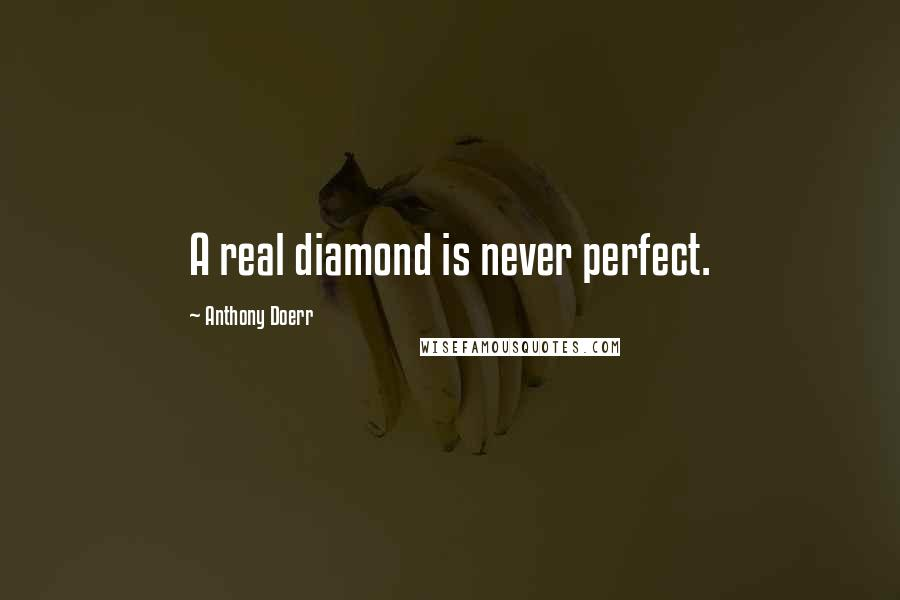 Anthony Doerr quotes: A real diamond is never perfect.