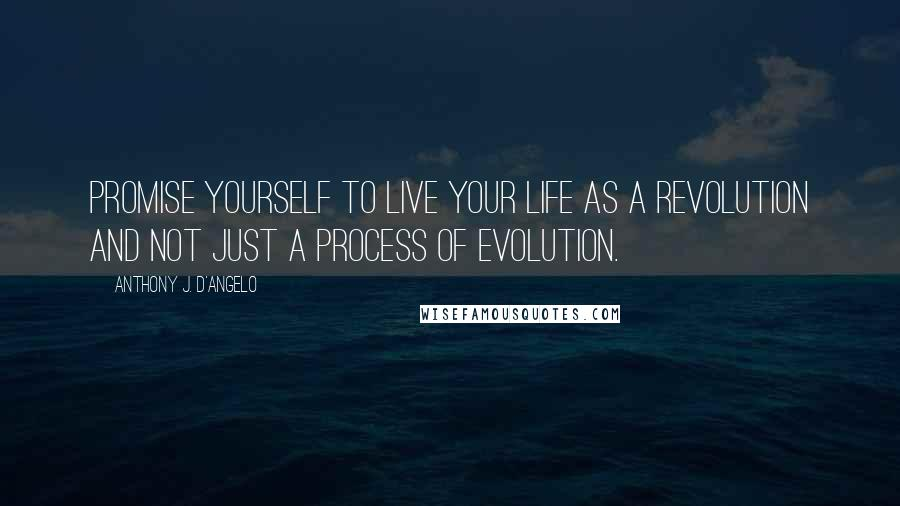 Anthony J. D'Angelo quotes: Promise yourself to live your life as a revolution and not just a process of evolution.