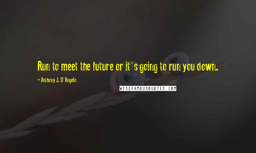 Anthony J. D'Angelo quotes: Run to meet the future or it's going to run you down.