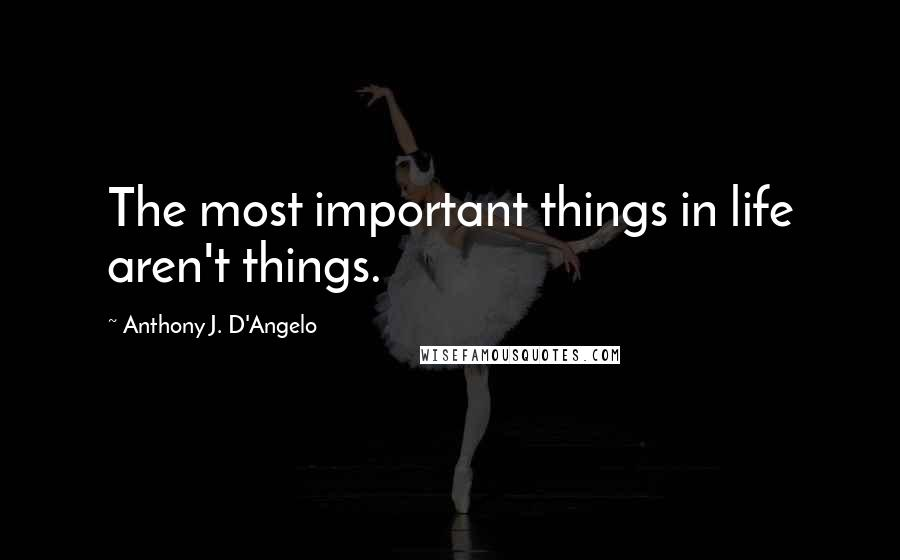 Anthony J. D'Angelo quotes: The most important things in life aren't things.