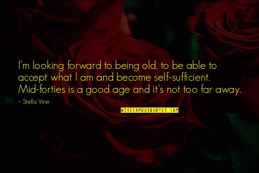Anti Gambling Quotes By Stella Vine: I'm looking forward to being old, to be