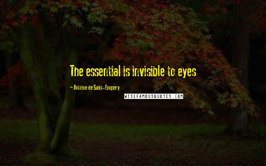 Antoine De Saint-Exupery quotes: The essential is invisible to eyes