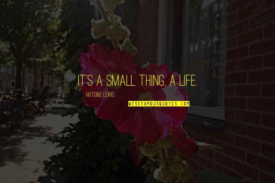Antoine's Quotes By Antoine Leiris: It's a small thing, a life.