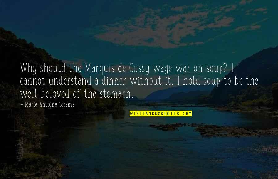 Antoine's Quotes By Marie-Antoine Careme: Why should the Marquis de Cussy wage war