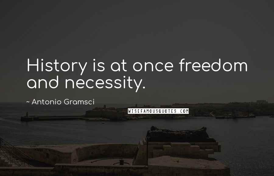 Antonio Gramsci quotes: History is at once freedom and necessity.