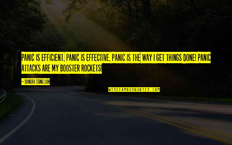 Anxiety Attacks Quotes By Sandra Tsing Loh: Panic is efficient. Panic is effective. Panic is