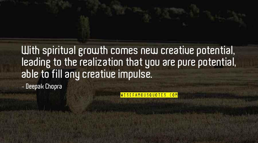 Any Quotes By Deepak Chopra: With spiritual growth comes new creative potential, leading