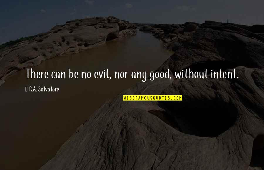 Any Quotes By R.A. Salvatore: There can be no evil, nor any good,