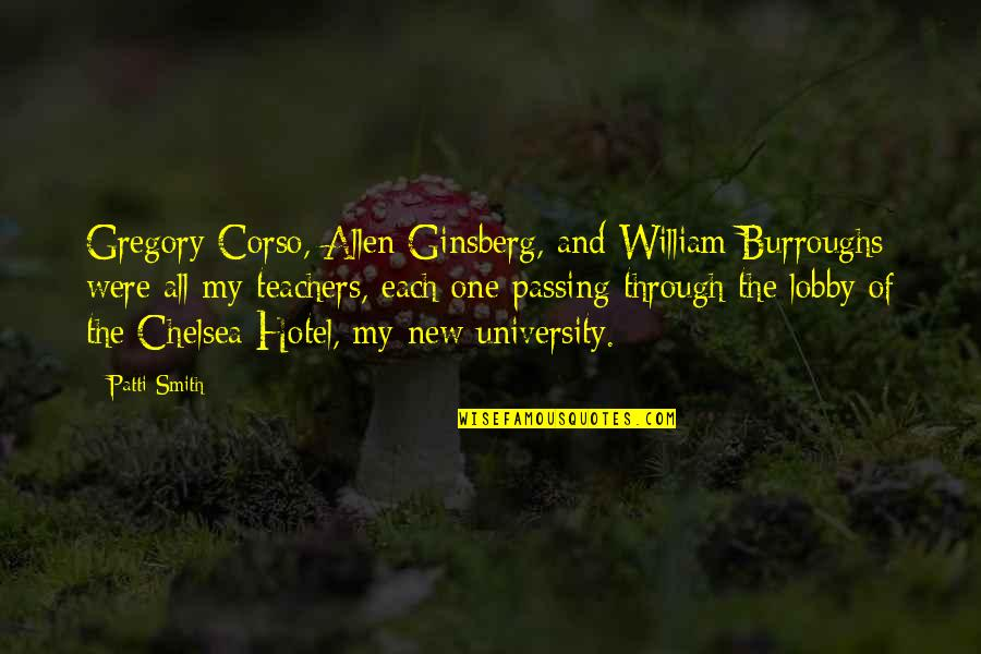 Apa Footnotes Quotes By Patti Smith: Gregory Corso, Allen Ginsberg, and William Burroughs were