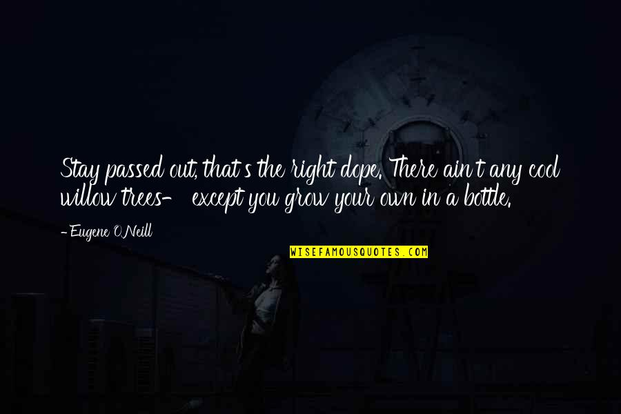 Apathy's Quotes By Eugene O'Neill: Stay passed out, that's the right dope. There