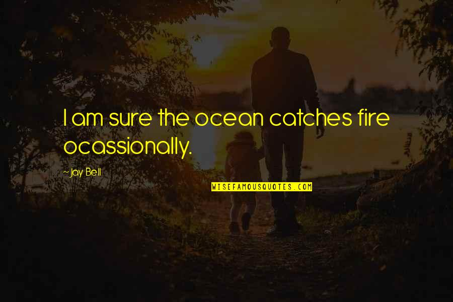 Apologizing To Loved Ones Quotes By Jay Bell: I am sure the ocean catches fire ocassionally.