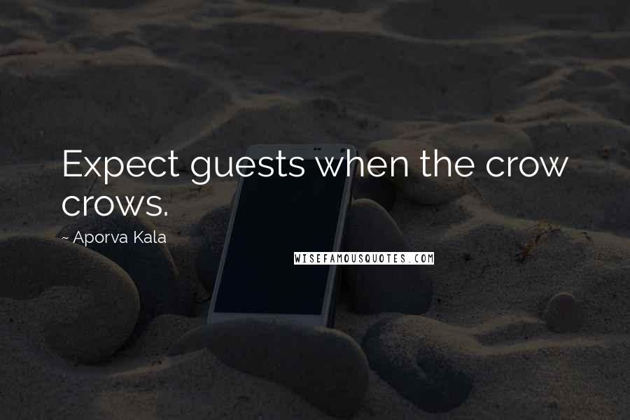 Aporva Kala quotes: Expect guests when the crow crows.