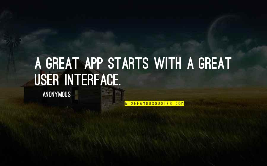 App Quotes By Anonymous: A great app starts with a great user