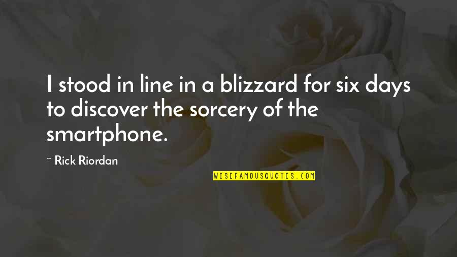 App To Create Instagram Quotes By Rick Riordan: I stood in line in a blizzard for