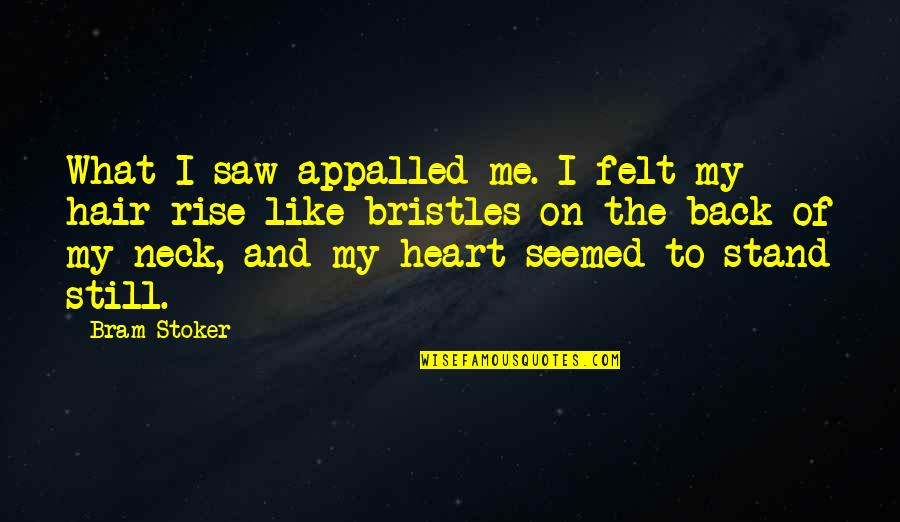 Appalled Quotes By Bram Stoker: What I saw appalled me. I felt my