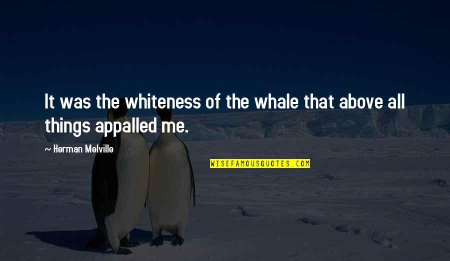 Appalled Quotes By Herman Melville: It was the whiteness of the whale that