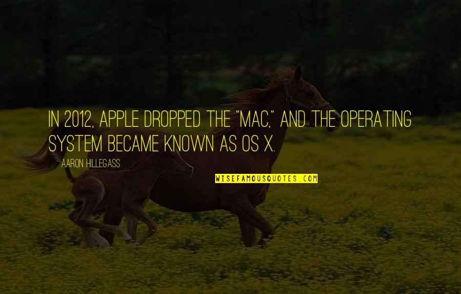 """Apple Mac Quotes By Aaron Hillegass: In 2012, Apple dropped the """"Mac,"""" and the"""