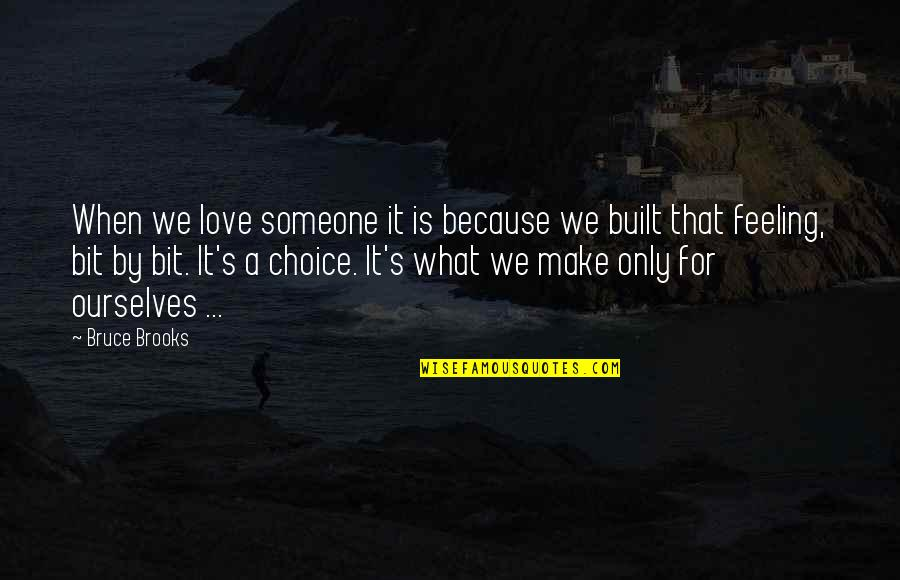 Apples And Fall Quotes By Bruce Brooks: When we love someone it is because we