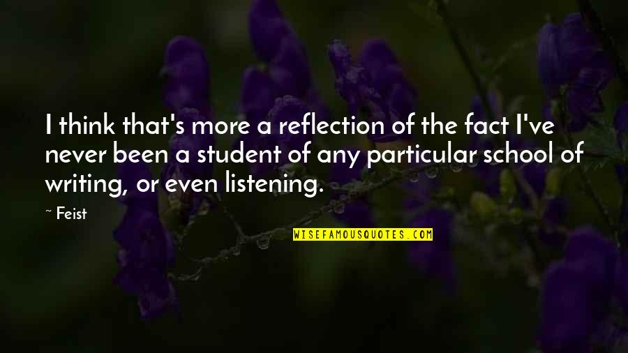 Appreciation In Relationships Quotes By Feist: I think that's more a reflection of the