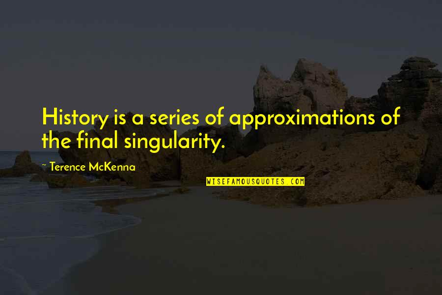 Approximations Quotes By Terence McKenna: History is a series of approximations of the