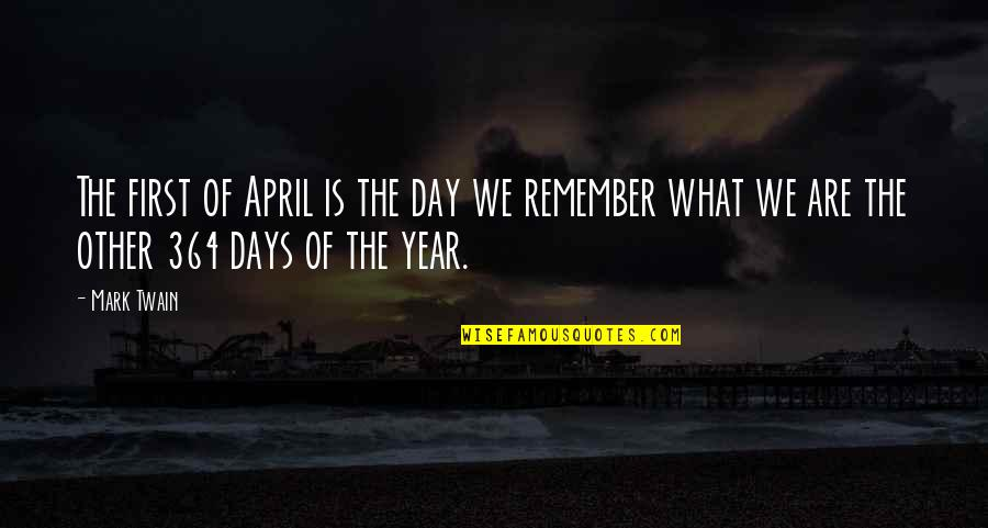 April First Quotes By Mark Twain: The first of April is the day we