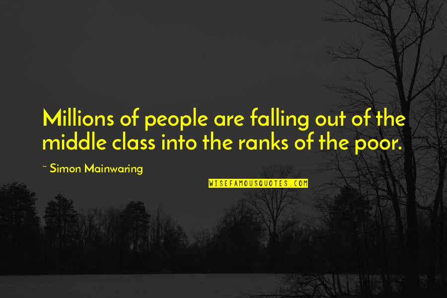 Ara Guler Quotes By Simon Mainwaring: Millions of people are falling out of the