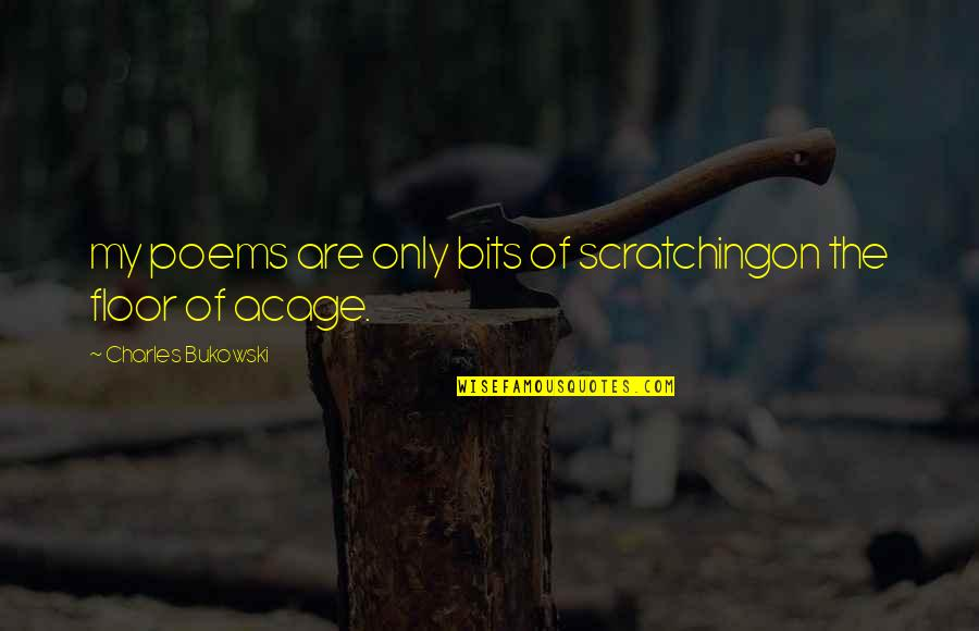 Archer Vice Southbound And Down Quotes By Charles Bukowski: my poems are only bits of scratchingon the