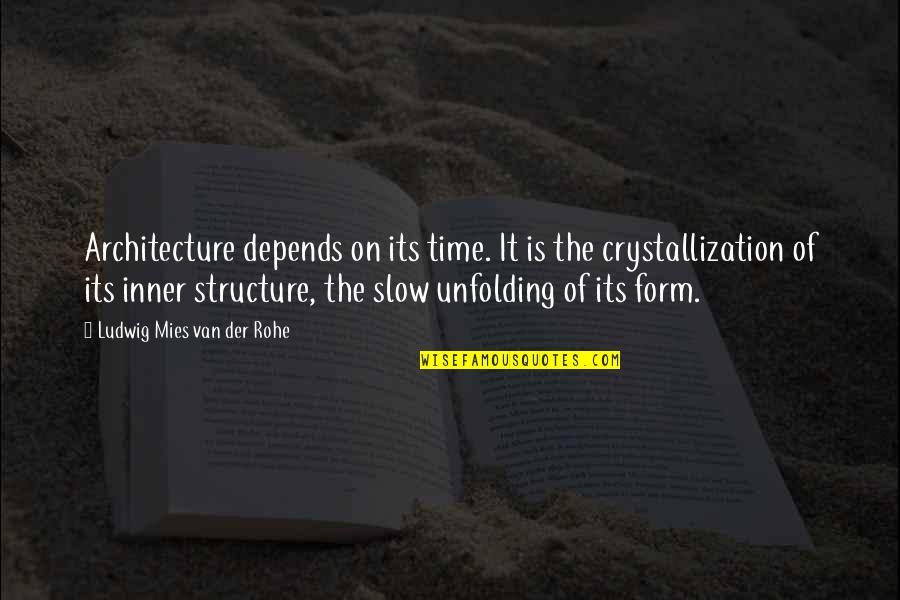 Architecture Depends Quotes By Ludwig Mies Van Der Rohe: Architecture depends on its time. It is the