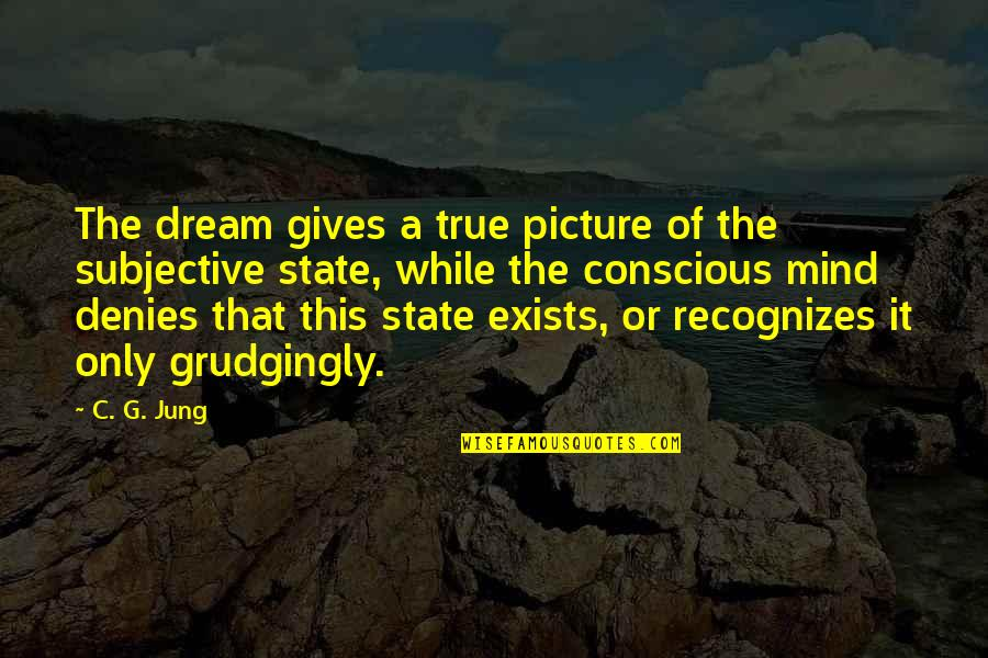 Are You Ok Picture Quotes By C. G. Jung: The dream gives a true picture of the
