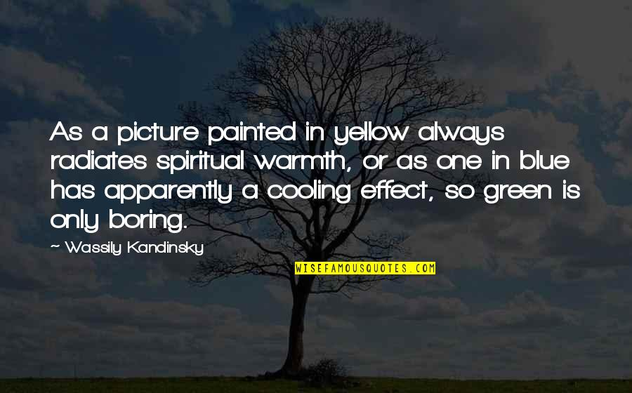 Are You Ok Picture Quotes By Wassily Kandinsky: As a picture painted in yellow always radiates