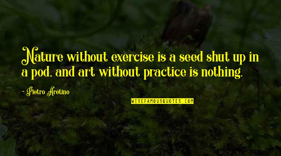 Aretino Quotes By Pietro Aretino: Nature without exercise is a seed shut up