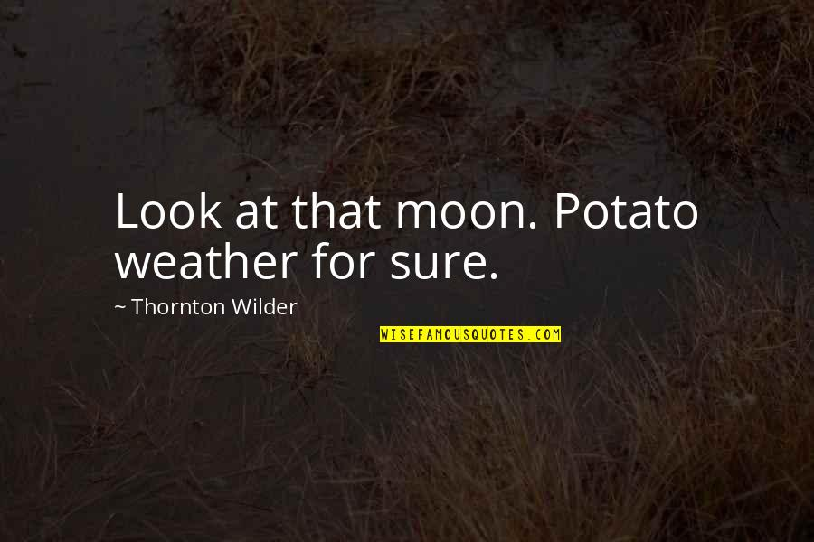 Arguments With Parents Quotes By Thornton Wilder: Look at that moon. Potato weather for sure.