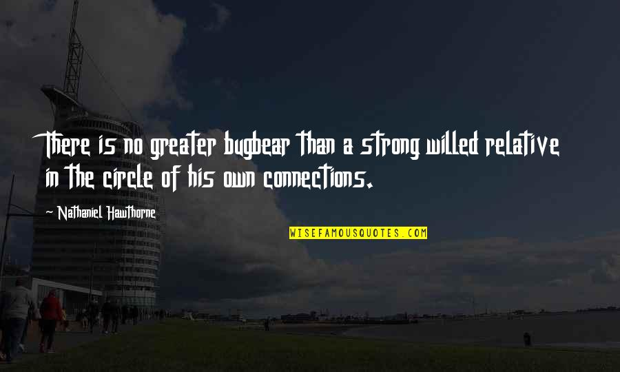 Aribert Heim Quotes By Nathaniel Hawthorne: There is no greater bugbear than a strong