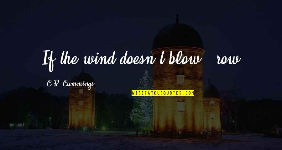 Arie Pencovici Quotes By C.R. Cummings: If the wind doesn't blow...row