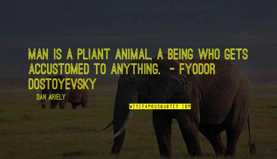 Ariely Quotes By Dan Ariely: Man is a pliant animal, a being who