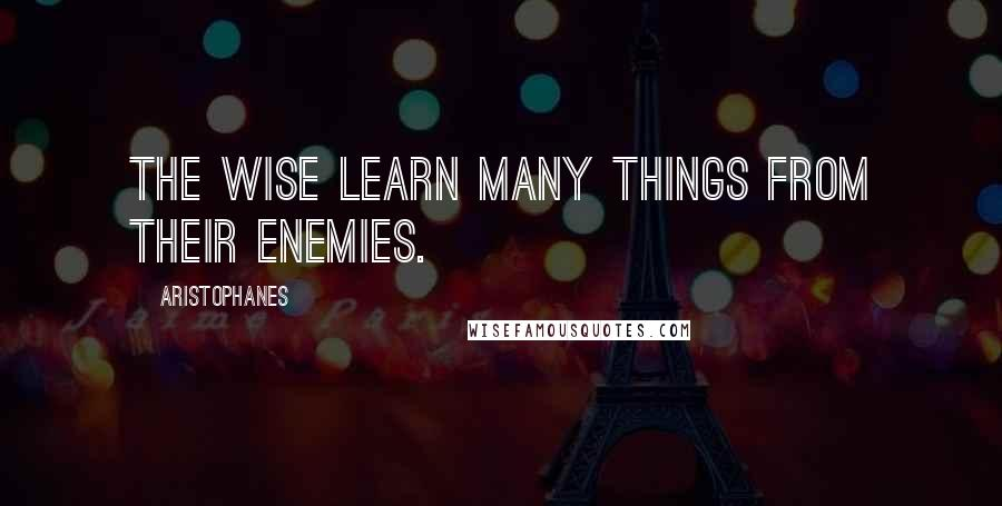 Aristophanes quotes: The wise learn many things from their enemies.