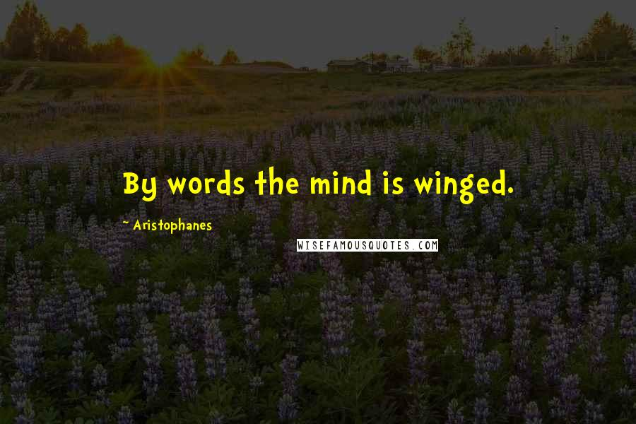 Aristophanes quotes: By words the mind is winged.