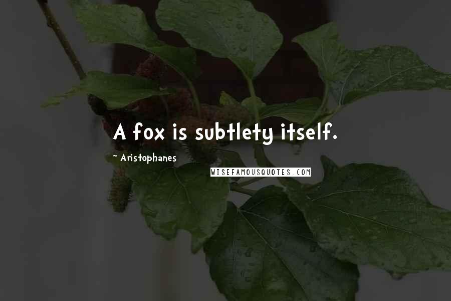 Aristophanes quotes: A fox is subtlety itself.