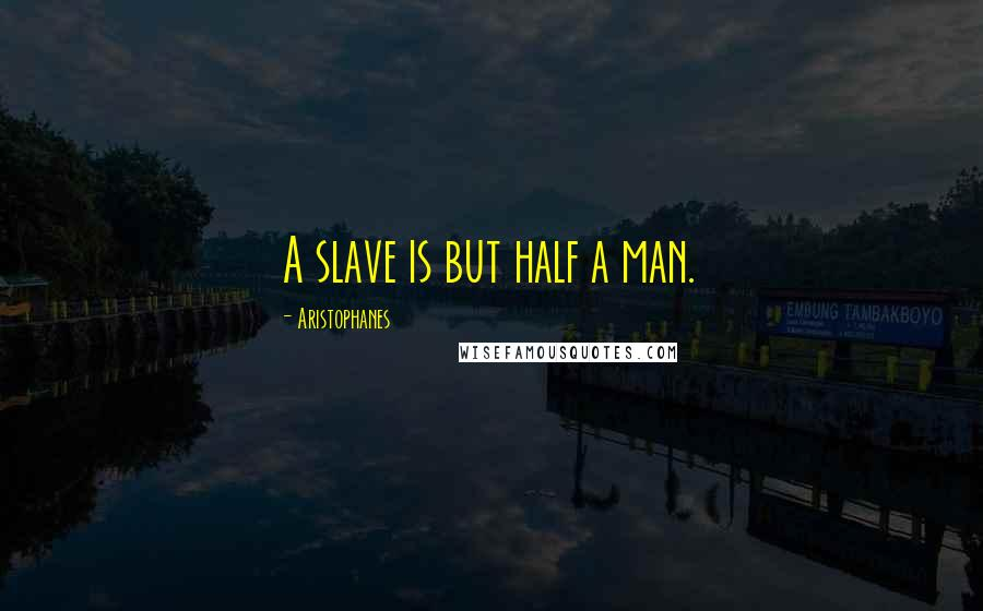 Aristophanes quotes: A slave is but half a man.