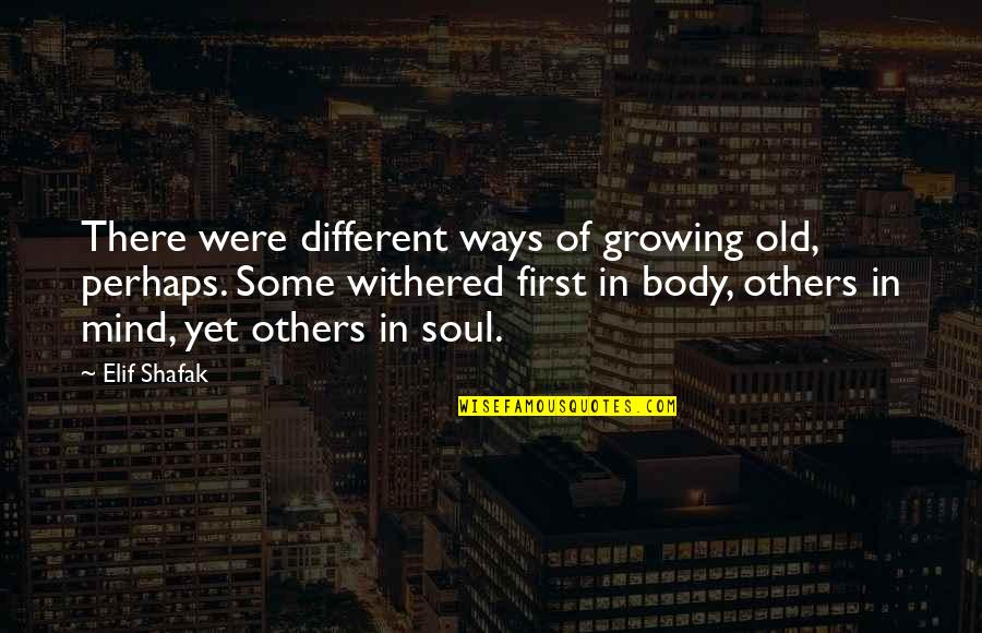Arlew Quotes By Elif Shafak: There were different ways of growing old, perhaps.