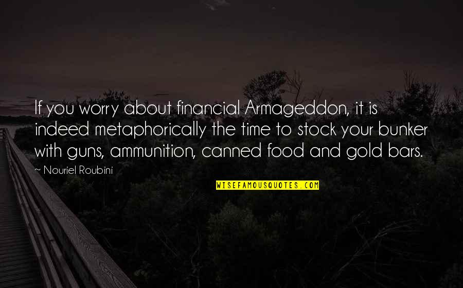 Armageddon Quotes By Nouriel Roubini: If you worry about financial Armageddon, it is