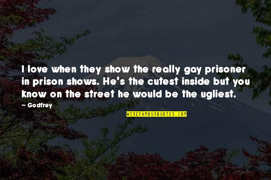 Armin Mohler Quotes By Godfrey: I love when they show the really gay