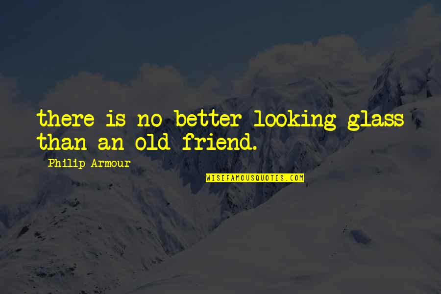Armour Quotes By Philip Armour: there is no better looking glass than an