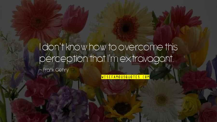 Army Wife Inspirational Quotes By Frank Gehry: I don't know how to overcome this perception