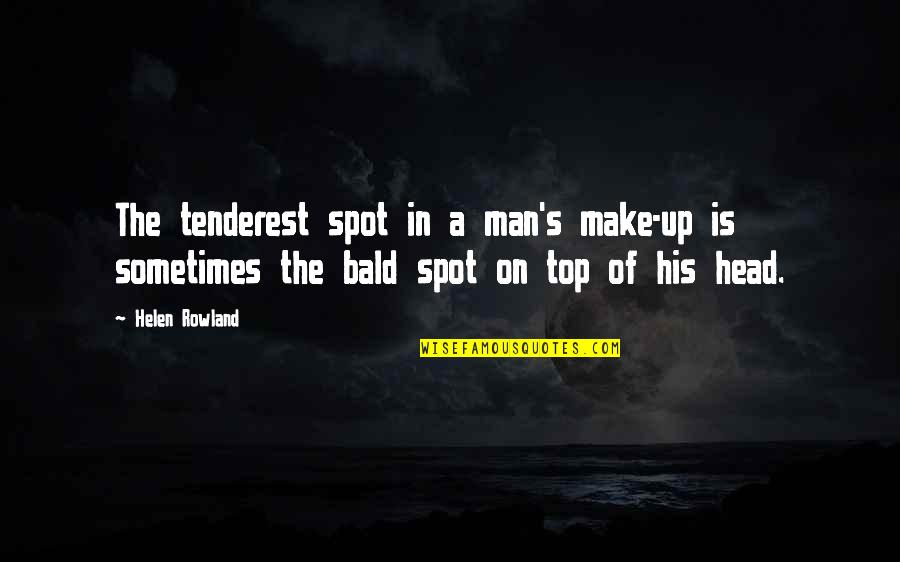 Army Wife Inspirational Quotes By Helen Rowland: The tenderest spot in a man's make-up is