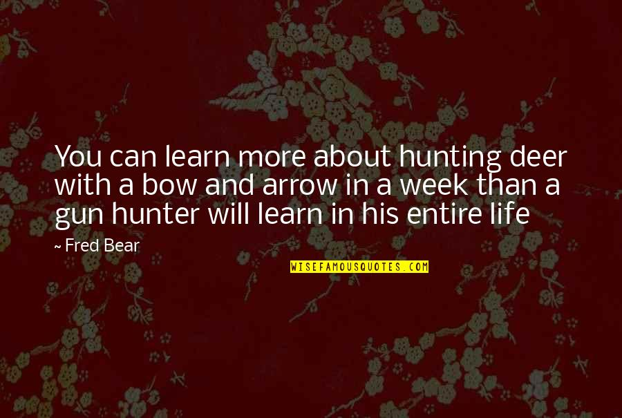 Arrow Quotes By Fred Bear: You can learn more about hunting deer with